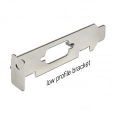 DELOCK Low Profile Bracket 82713 adapter za low-profile razširitveno režo s SUB-D 9 odprtino