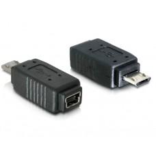 Delock adapter USB micro B Moški/miniUSB 5pin Ženski